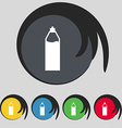 Plastic bottle with drink icon sign Symbol on five vector image