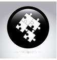 puzzle button vector image