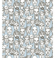 Seamless pattern of male doodle hand drawn vector image