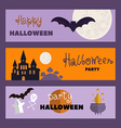 Set of halloween cards1 vector image