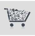 Shopping cart web vector image