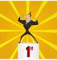 The winner businessman vector image