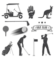 Set of vintage golf elements and equipment vector image