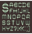 Font from spindrift scotch tape - Roman alphabet vector image vector image