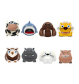 Funny animal icons vector image