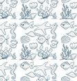 Seamless underwater vector image