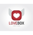 Abstract heart logo template for branding vector image