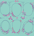 romantic set of circle floral borders vector image