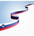 Slovenian flag background vector image vector image