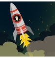 Startup Business Businessman on a rocket Flat vector image