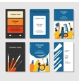 Cosmetic and beauty business cards set vector image