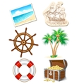 Set of icons for sea travel vector image