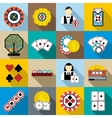 Casino icons set flat syle vector image