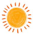 doodle sun vector image