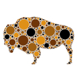 dotted of buffalo vector image