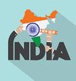 India Typography Design vector image