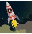 Startup Business Businessman on a rocket Flat vector image