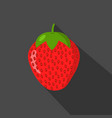 strawberry cartonn flat icon dark background vector image