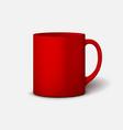 template ceramic clean mug vector image