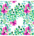 watercolor seamless floral pattern flowers vector image
