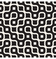 Seamless Black And White Rounded Irregular vector image