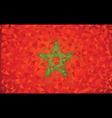 Flag Morocco grunge mosaic geometric pattern vector image vector image