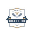 Motorcycle club logo template design vector image
