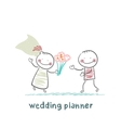 wedding planner with the bride vector image vector image