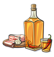 ukrainian vodka with chilly pepper vector image