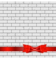 Background of Brick Wall Texture with Bow and vector image