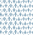 Different snowflake seamless pattern Design vector image