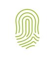 fingerprint green icon image vector image