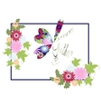 Happy Mothers Day floral greeting with abstract vector image