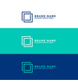 minimal square logo concept background vector image