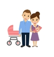 Mom with little baby and husband vector image