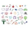 Set of Eco doodles vector image