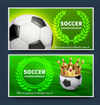 soccer football league announcement posters vector image