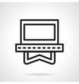 Video application simple line icon vector image