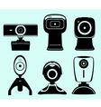 Web camera set vector image vector image