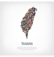 people map country Taiwan vector image