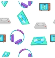 Computer games equipment pattern cartoon style vector image