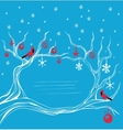 Christmas background cardinal bird brunch vector image vector image