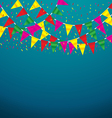 Celebrate banner party flags vector image