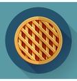 Sweet apple pie icon Flat designed style vector image