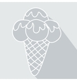 Ice Cream icon symbol with long shadow vector image