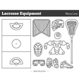 lacrosse game design elements vector image