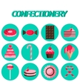 Confectionery flat icon set vector image