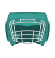 boxing helmet green boxer mask isolated spor vector image