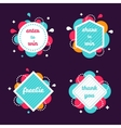 Colourful Internet Banners Templates Set vector image