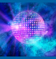 disco ball outer space background vector image